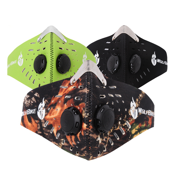 WOLFBIKE 3 Colors Outdoor Riding Mask Windproof Dustproof Activated carbon Mask