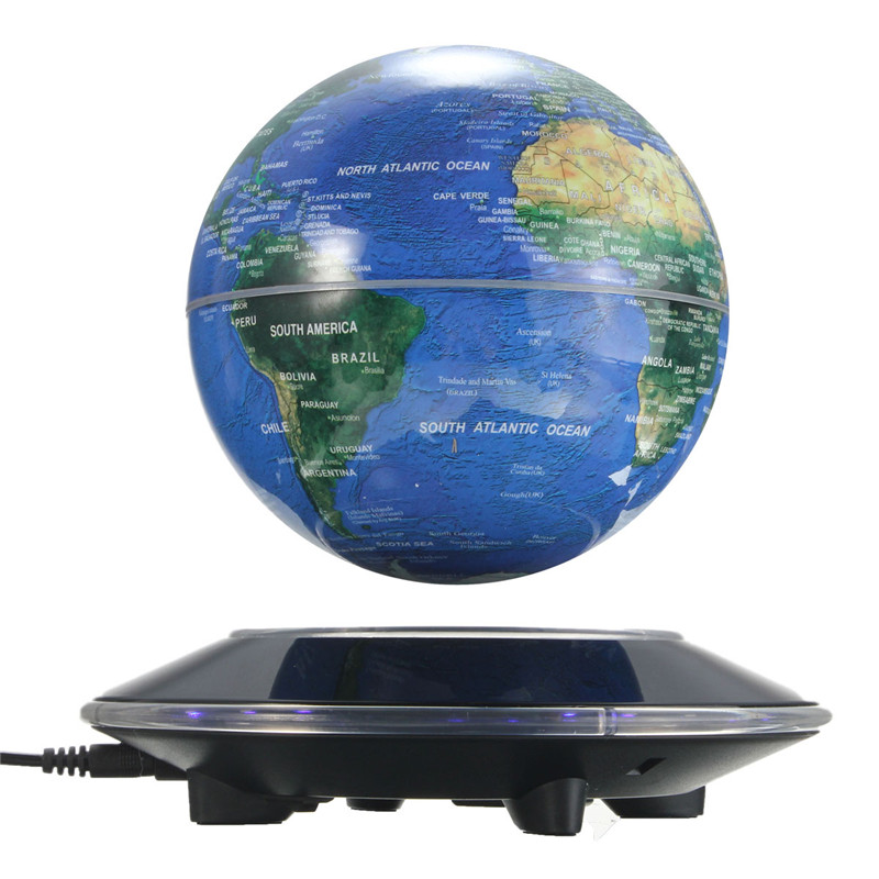 Magnetic Levitation Floating globe 6 inch Amazing Office House Decor Colorful Toys