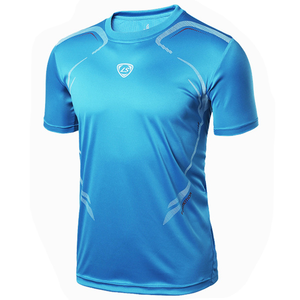 Mens Professional Quick Dry Breathable Short Sleeved Sports Tshirts Tops