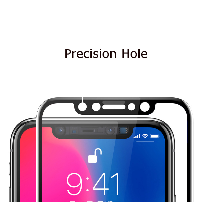 Bakeey™ Titanium Alloy 0.3mm 2.5D Edge Tempered Glass Screen Protector Film for iPhone XS/X