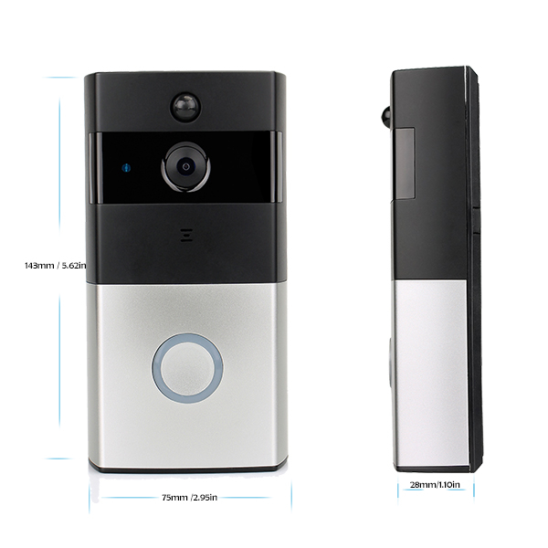 WiFi Video Door Phone Doorbell Battery Powered Security Door Intercom PIR Motion with 8GB TF Card
