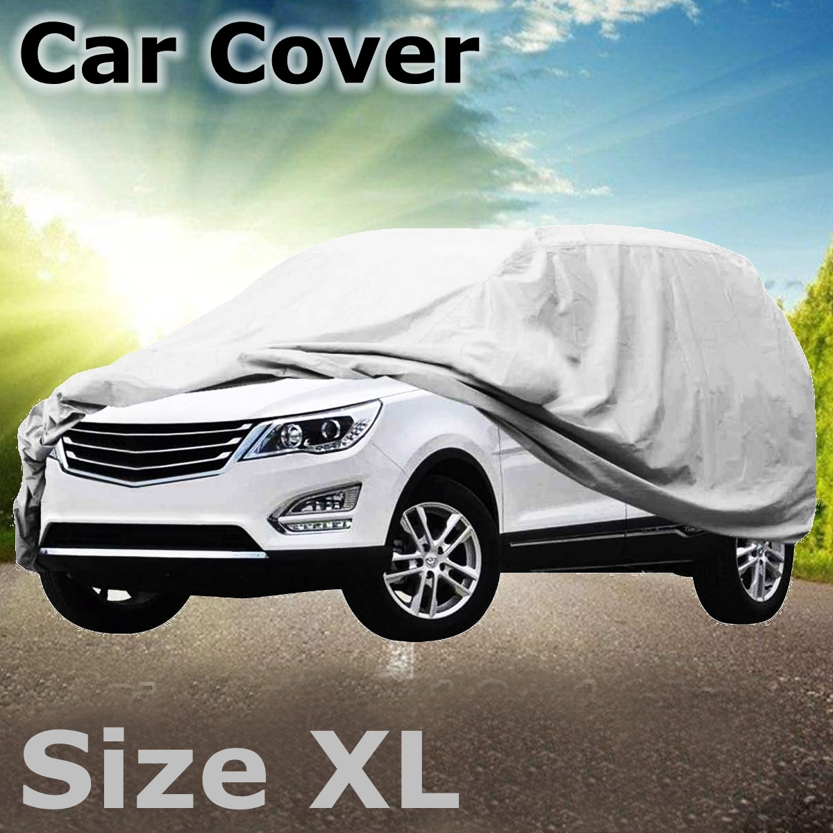 Universal XL 5.2x2x1.8m Car Cover Waterproof Anti-scratch Protector for 4x4 Sport Vehicle SUV