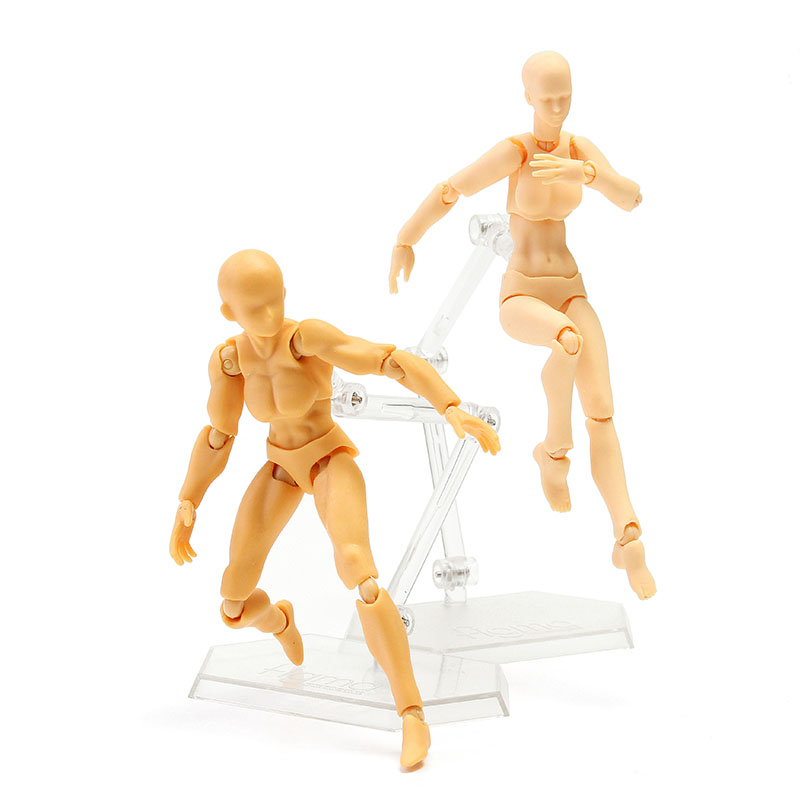 DIY Figma 2.0 Female Skin Color Figure Figma Archetype Doll PVC Movable Hand Model Doll Toy