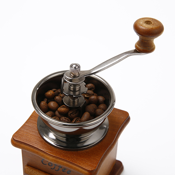 Retro Wooden Coffee Bean Hand Grinder Family Mini Flour Mill
