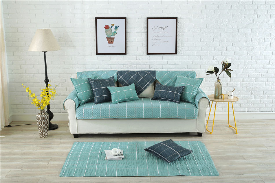 Nordic Style Magical Sofa-cover Corner Fabric Double Towel Non-slip Sofa Cover Set Slip Cover Sofa Cover