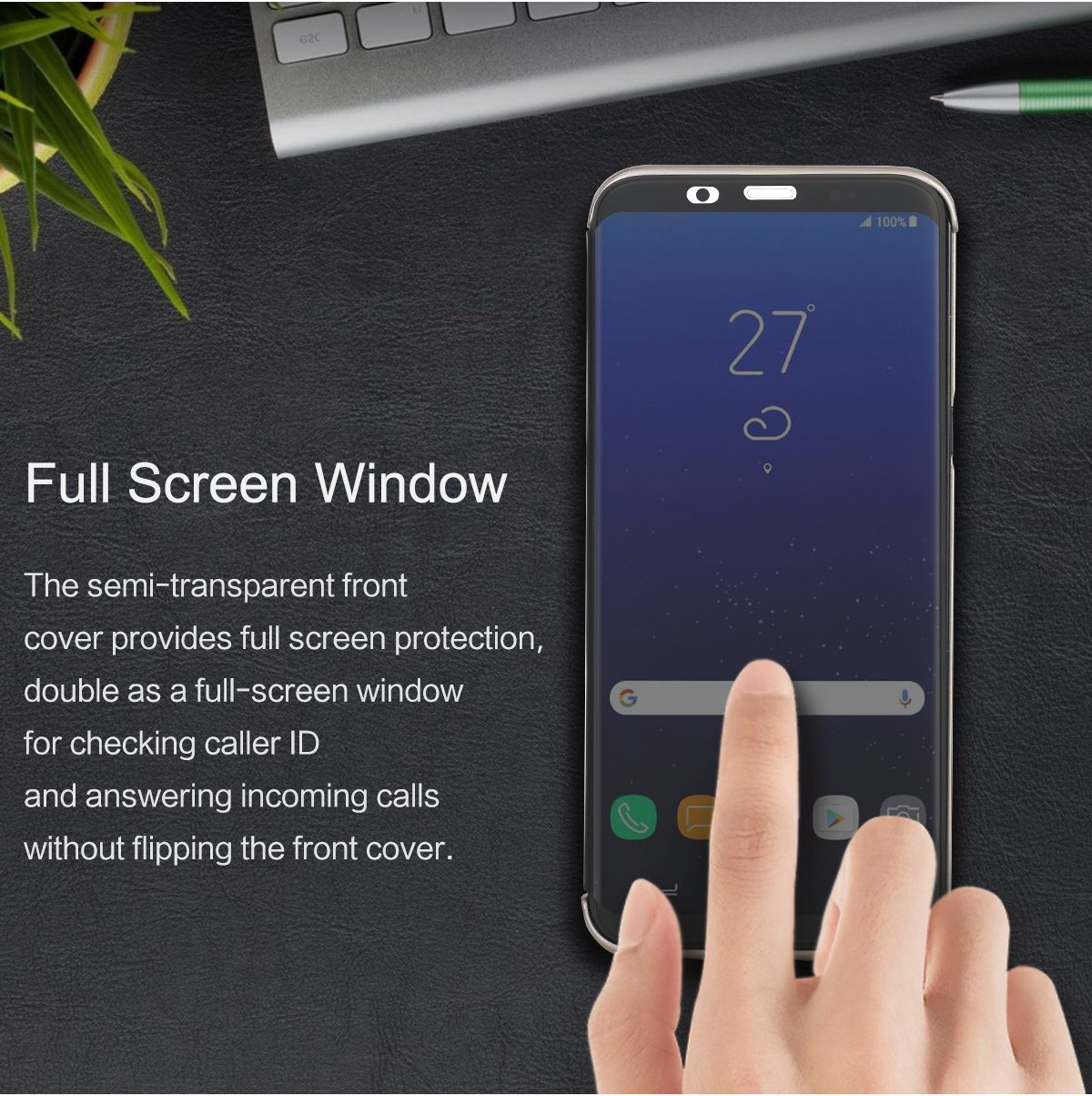 Rock Full Screen Window Touch Screen Case For Samsung Galaxy S8