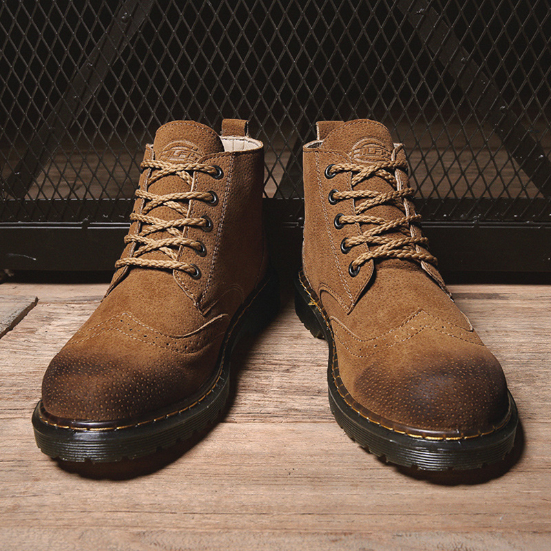 Soft Brogue Hiking Leather Boots