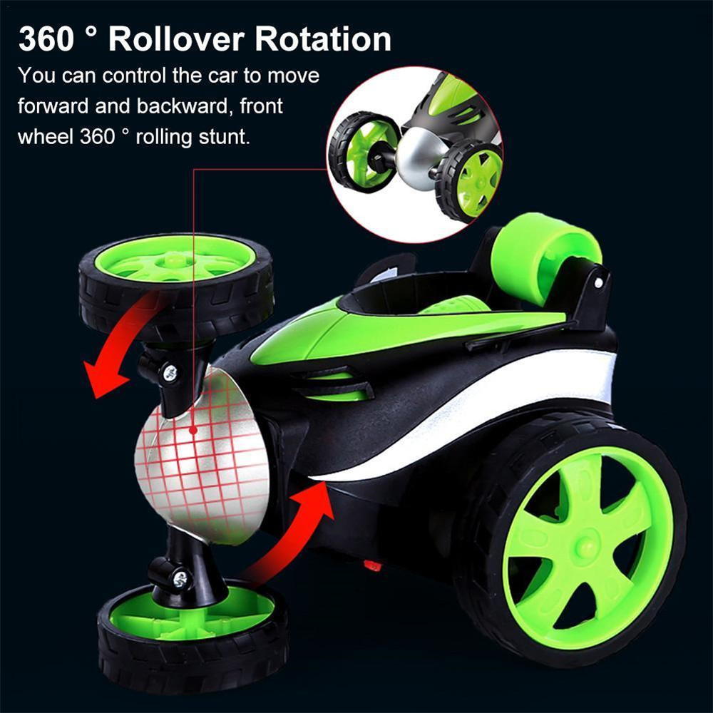 1PC 1/24 Radio Control Stunt Rc Car 360 Degree Rotation Tumbling Truck Random Color W/ O Battery