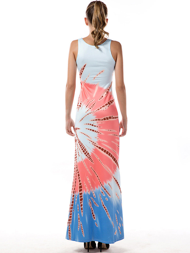 Casual Women Sleeveless Printed Summer Maxi Dresses
