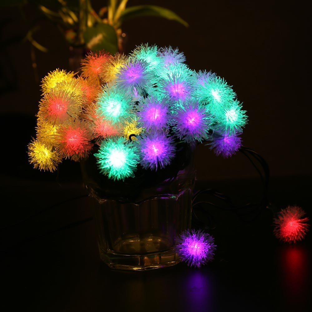 KCASA 2.2M 20 LED Dandelion Ball String Lights LED Fairy Lights for Festival Christmas Halloween Party Wedding Decoration Battery Powered