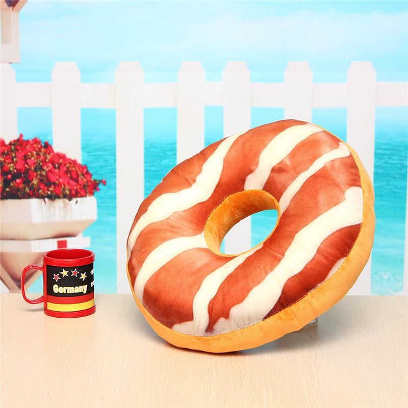 Donut Plush Stuffed Toy Soft Doughnut Food Back Saddle Car Set Kids Gift Decor