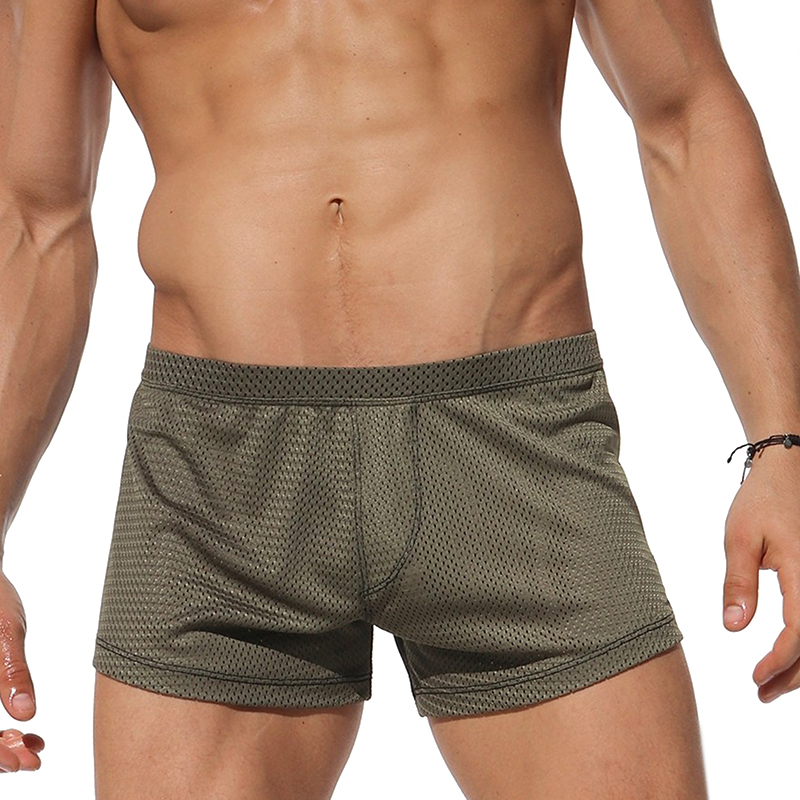 Mens Mesh Quick Drying Sports Gym Loose Casual Board Shorts