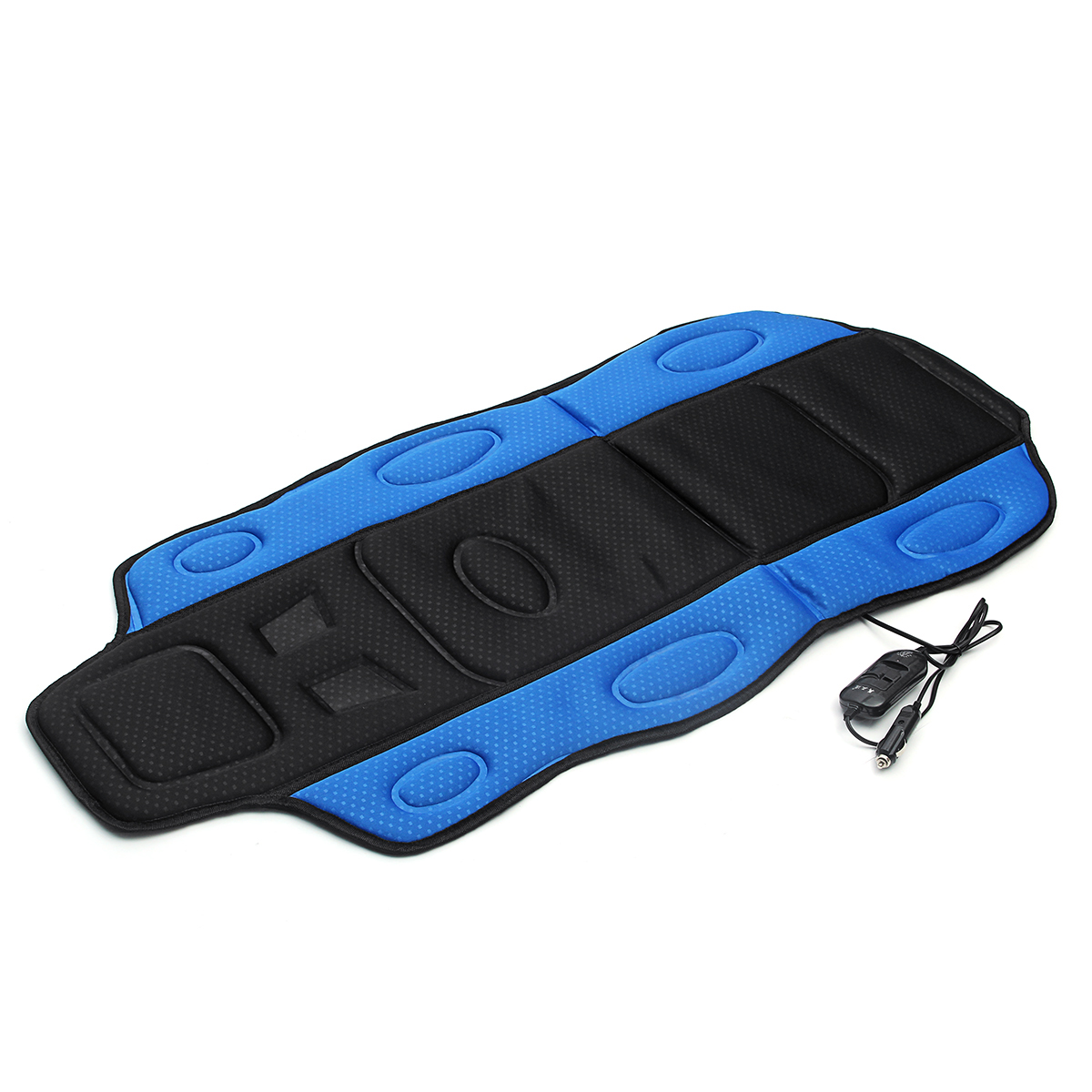12V Car Seat Heated Cushion Seat Warmer Winter Household Cover Electric Heating Mat Black and Blue