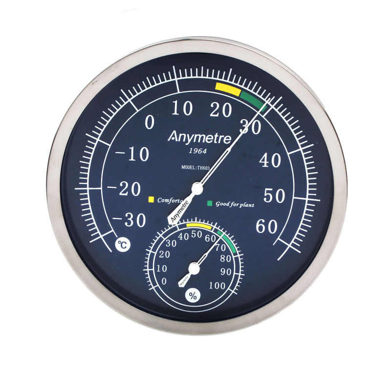 TH603 Stainless Steel Indoor -30 to 60°C Hygrometer 0% to 100%RH Thermometer Temperature and Humidity Meter