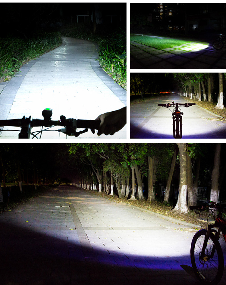 infun TC10 850LM IPX6 3400mAH Battery 85° Floodlight 4 Modes Intelligent Temperature Control Bike Light
