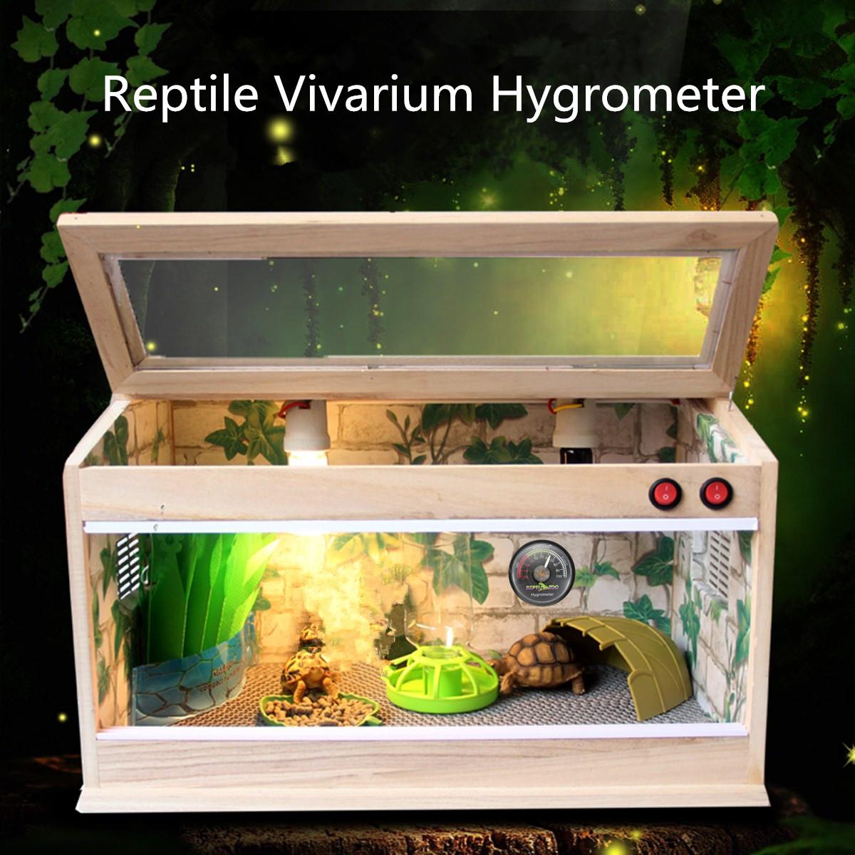 Reptile Tortoise Vivarium Terrarium Hygrometer Humidity Meter with Colour Codes