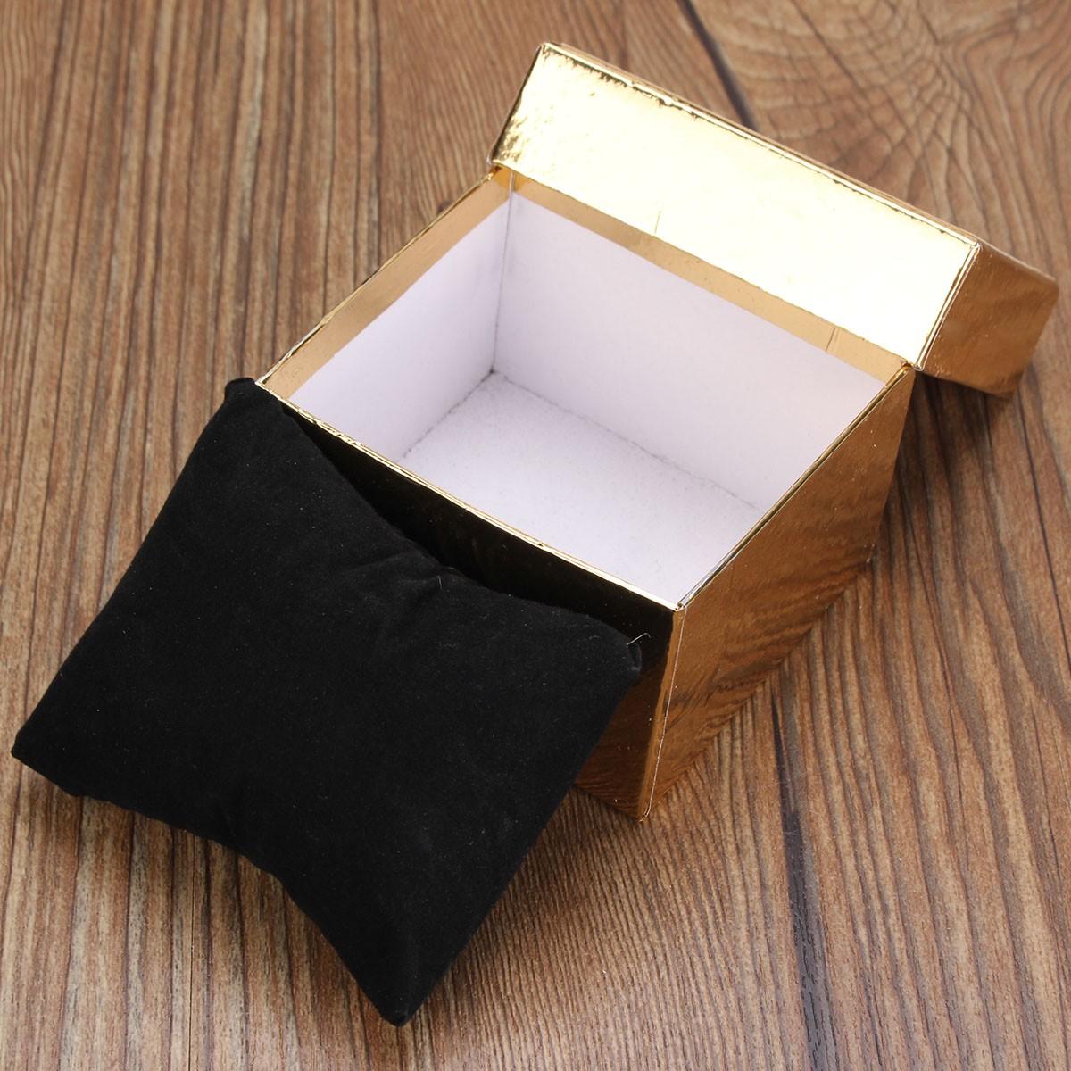Bowknot Bracelet Bangle Square Jewelry Wrist Watch Cardboard Packing Box