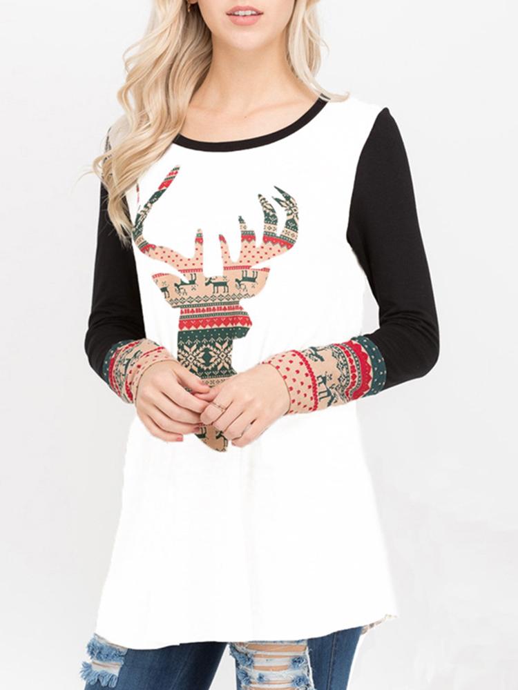 Cute Women O-Neck Long Sleeve T-Shirts