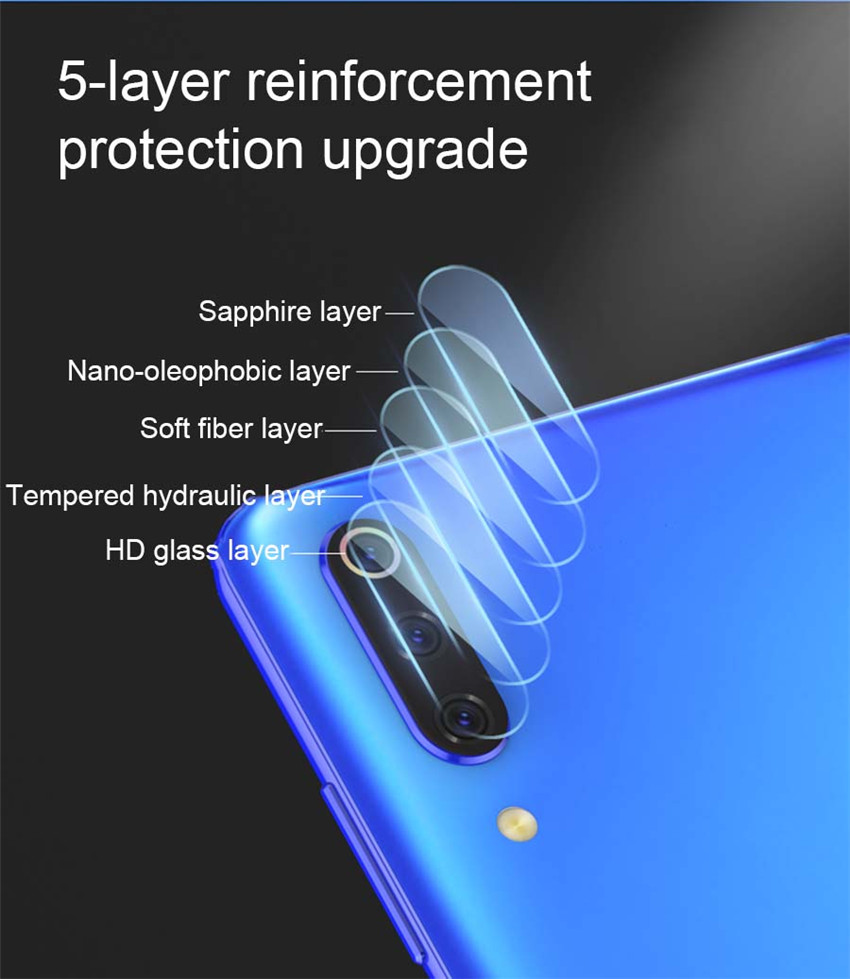 Bakeey™ Anti-scratch Metal Circle Ring + Tempered Glass Phone Camera Lens Protector for Xiaomi Mi9 Mi 9
