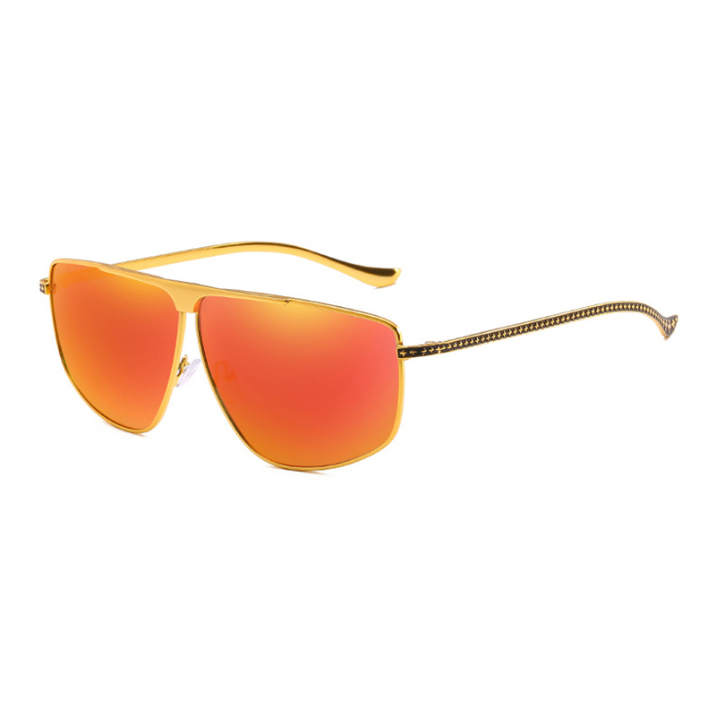 Mens Trendy Anti-UV Metal Polarized Sunglasses
