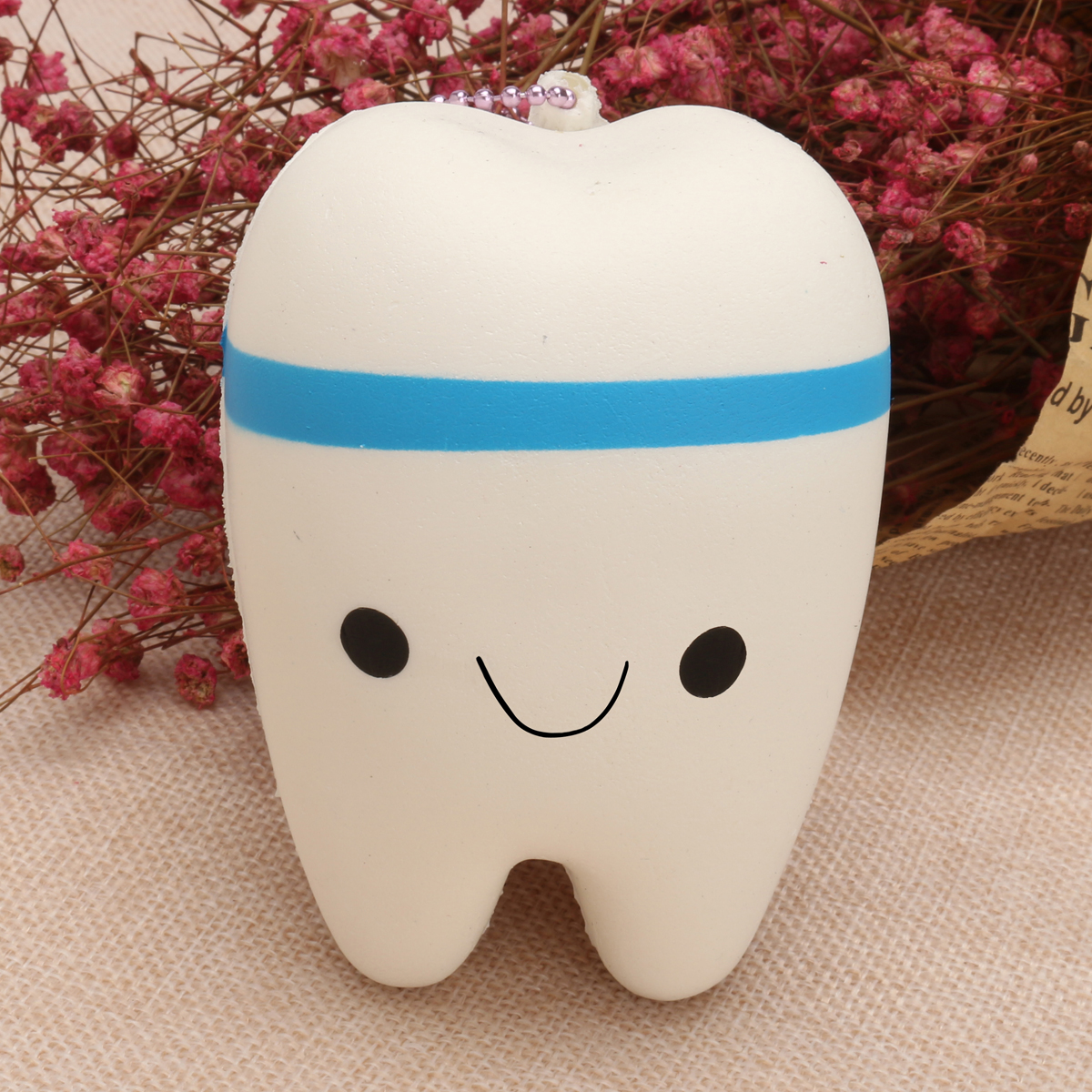 Squishy Teeth 10cm Blue Pink Random Soft Slow Rising Collection Gift Decor Toy