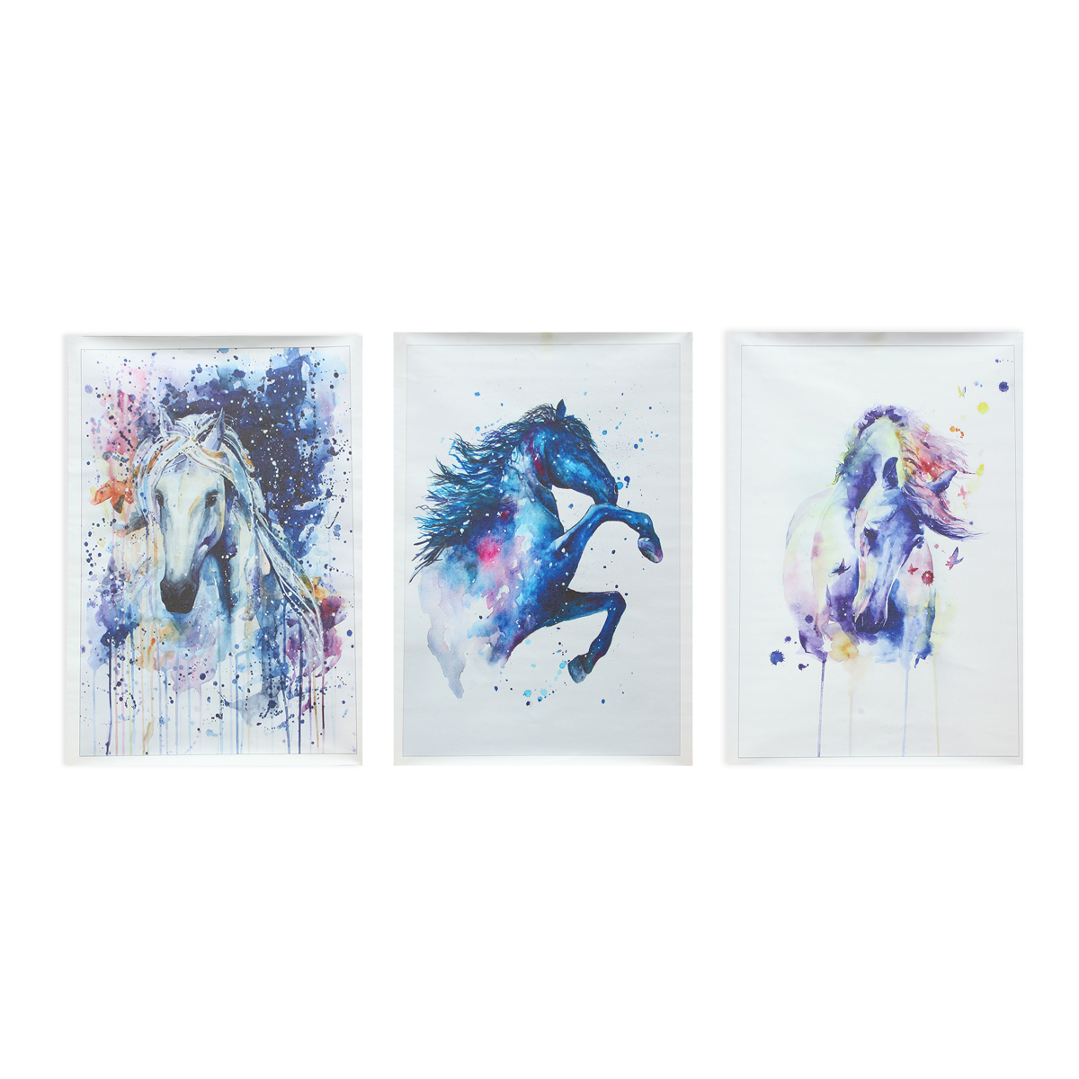 Watercolour Fairy Horse Picture Canvas Unframed Paintings Abstract Wall Art Decor