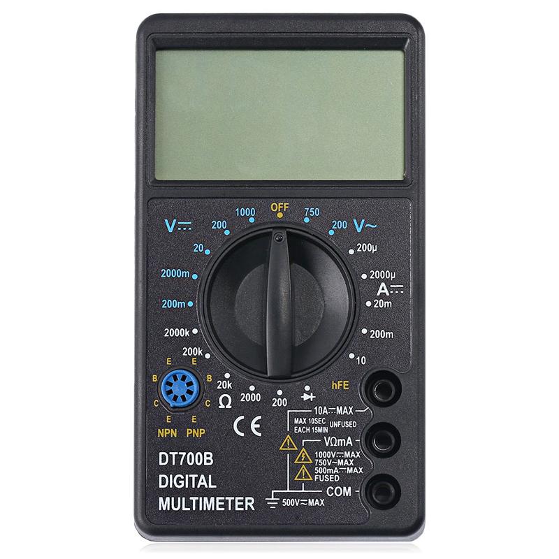 Professional WHDZ DT700B Digital Multimeter AC DC Voltmeter DC Current Resistance Diode Tester Tool