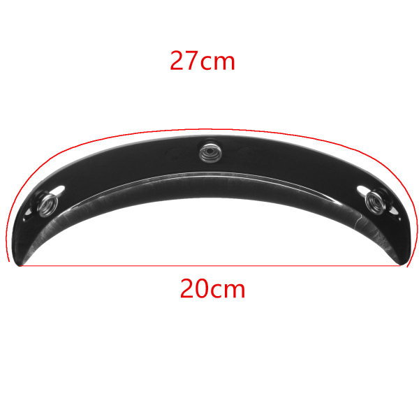 Universal Black 3 Snap Buttons Visor Shield Lens For Motorcycle Open Face Helmets 27cm/10.6in