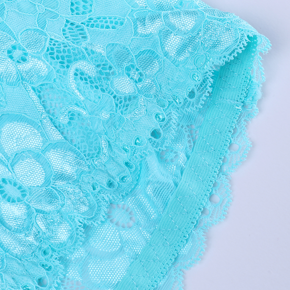 High-Waisted Lace Jacquard Hip Lifting Briefs