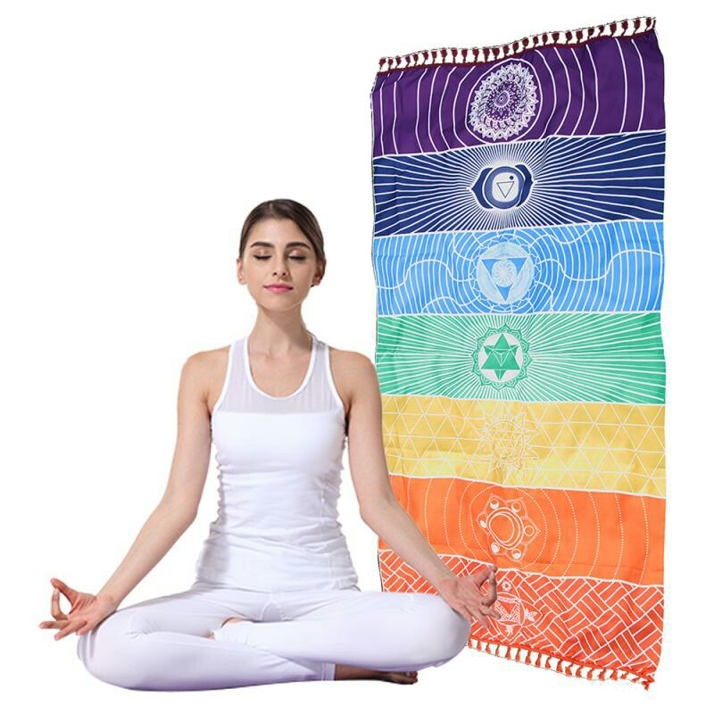 Yoga Mat for Slimming Exercise Bohemian Style