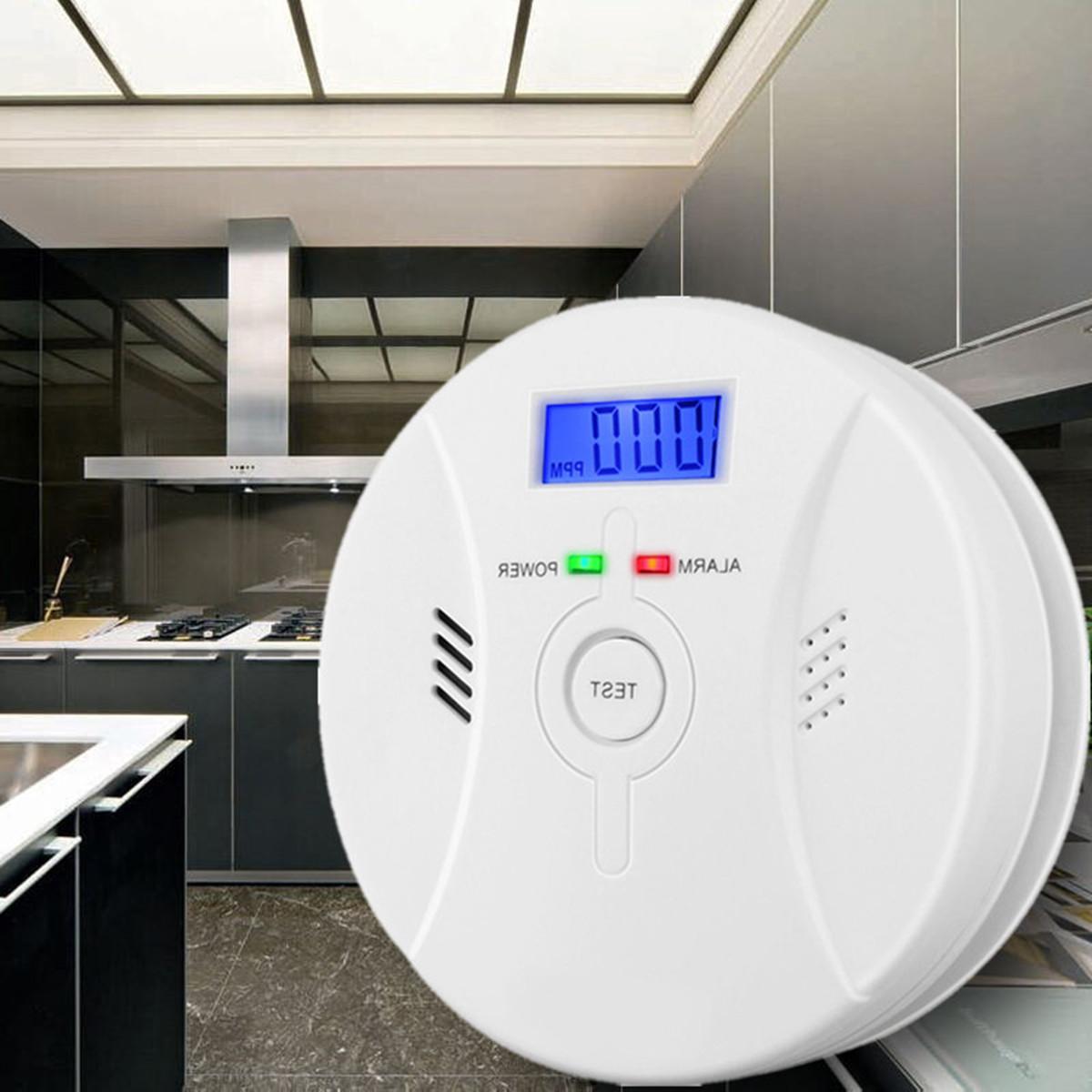 CO Carbon Monoxide Detector Poisoning Smoke Fire Security Alarm Warning Sensor