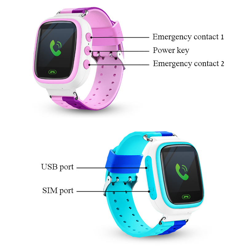 Q80 Screen Touch Children Kid SOS Call GPRS Location Device Tracker Smart Watch