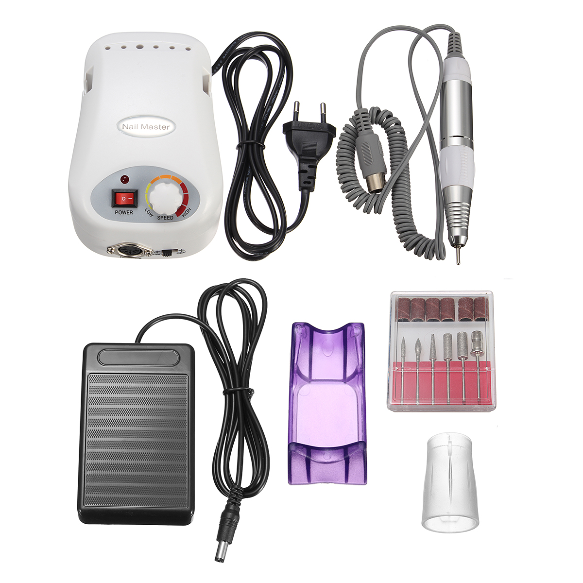 25000RPM White Electric Nail Drill Machine Polishing