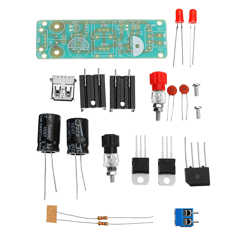 3pcs DIY Double LM7805 Diffuser Regulator Module Kit 5V 3A Solar Energy Regulator Generator Module