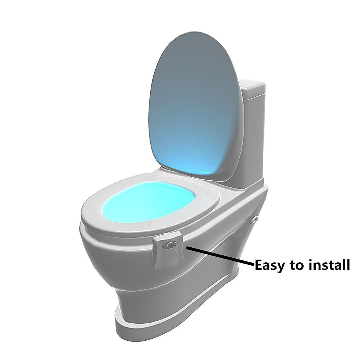 8 Colors LED Toilet Light Changing Motion Activated Bathroom Toilet Seat Night Light Lamp
