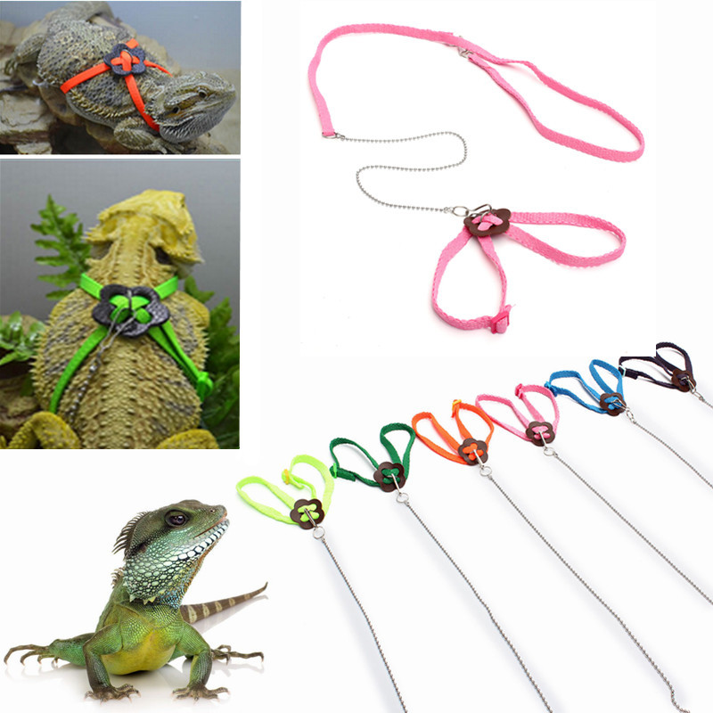 Adjustable Pet Reptile Birds Lizard Harness Leashes Adjustable Multicolor Lead Light Soft Fashion