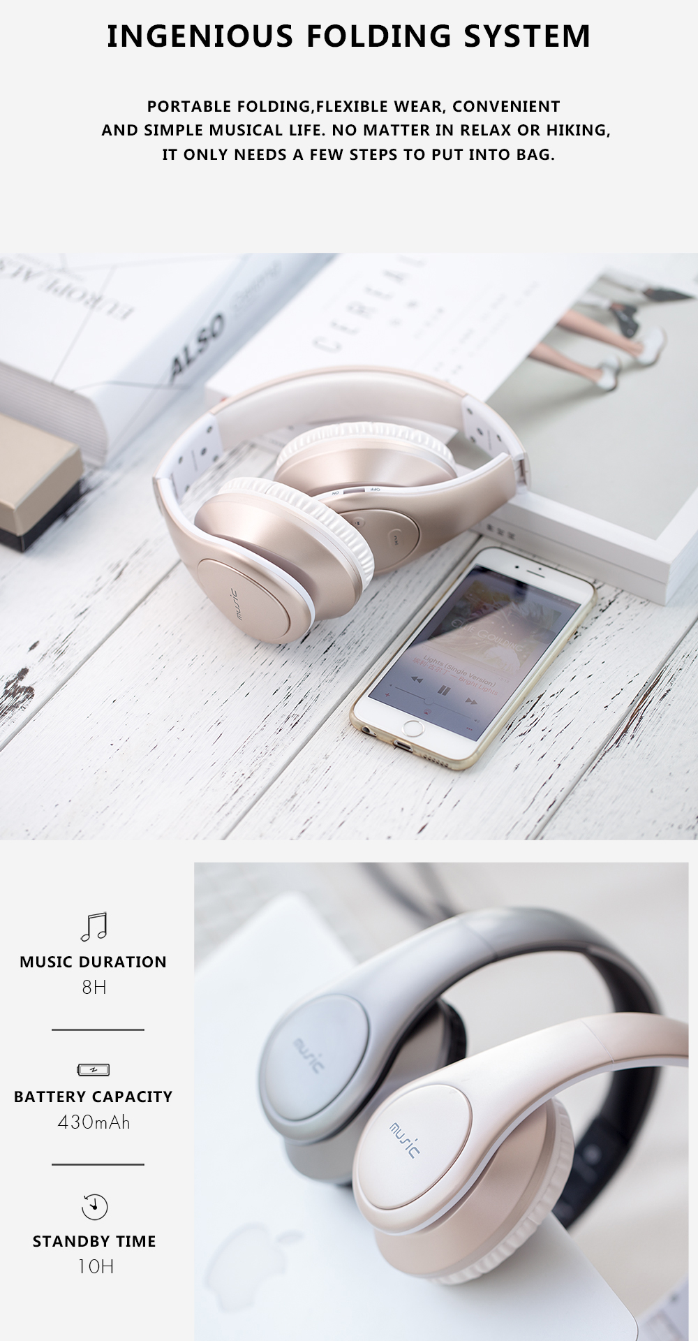 Sound Intone P7 Wireless bluetooth Headphone Headset With Mic Support FM Tf Card