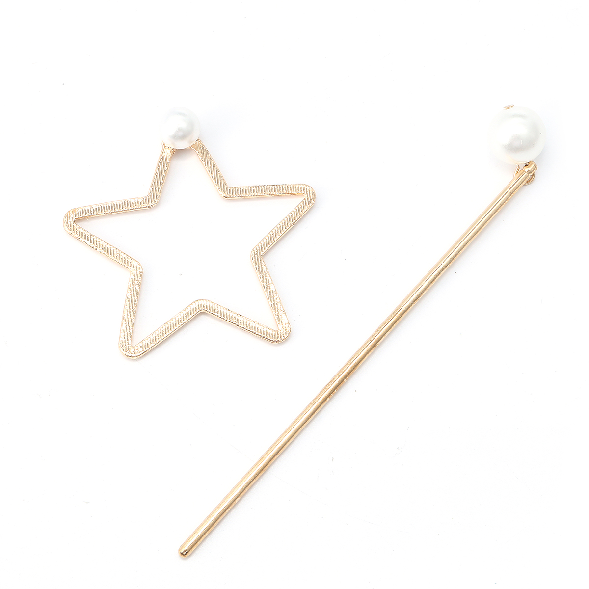 Star Shaped Pearl Alloy Elegant Hair Clip Decoration Ornaments Accessories Lady Girl