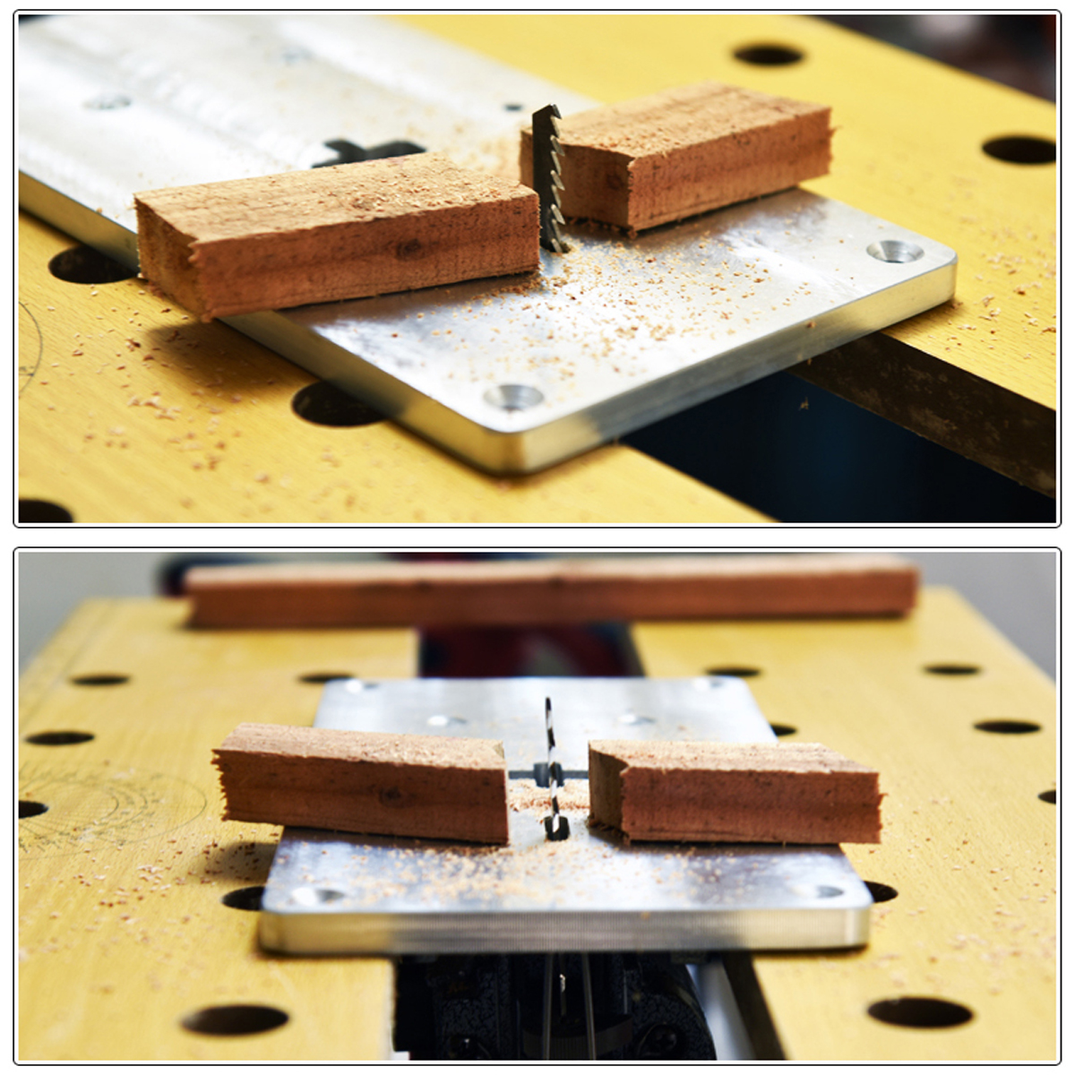 Aluminum router table insert plate with fixing screws for jig saw shipping methods greentooth Choice Image