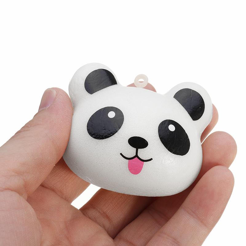 Squishy Panda Bun 5cm Soft Phone Bag Charm Strap Collection Gift Decor Toy