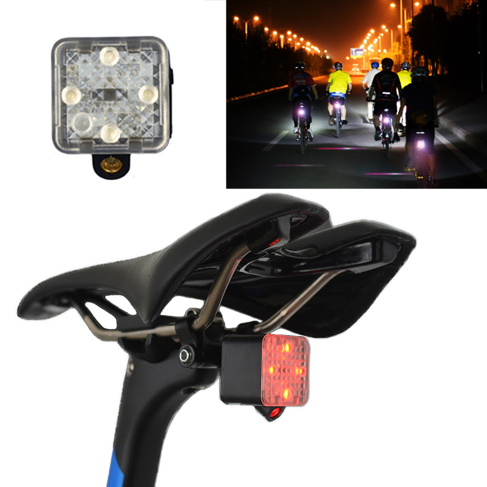 XANES STL11 Smart Light Sensor Mini Bike Taillight With Safety Cycling Distance Laser Signal Waterproof USB Rechargeable 45g Only