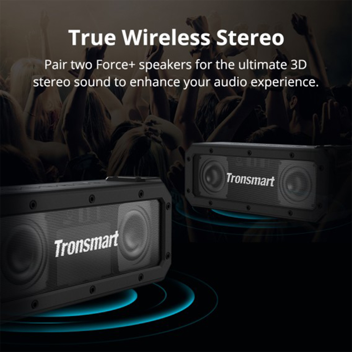 Tronsmart Element Force+ Wireless bluetooth 40W Speaker TWS HIFI IPX7 Waterproof Support NFC TF AUX