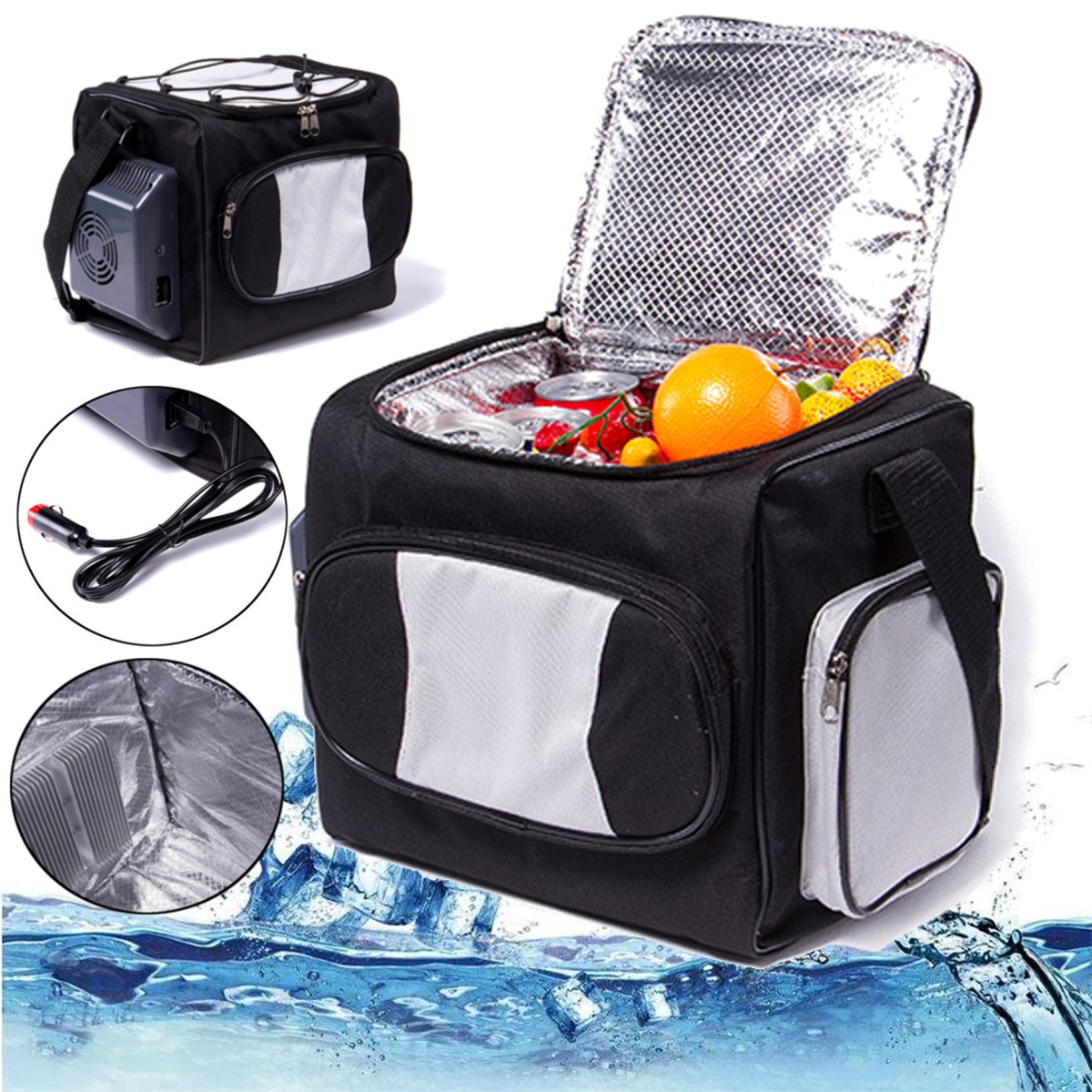 DC 12V Mini Fridge 12L Auto Car Portable Freezer Centigrade Bag Home Cooler Refrigerator