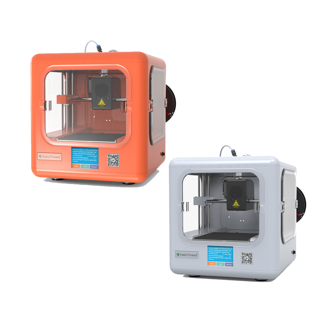 Easythreed ET-4000+ Upgraded Mini Preassembled 3D Printer with 2.8-inch LCD Touch Screen/CE Certificate 120*120*120mm Printing Size 1.75mm 0.4mm Nozzle
