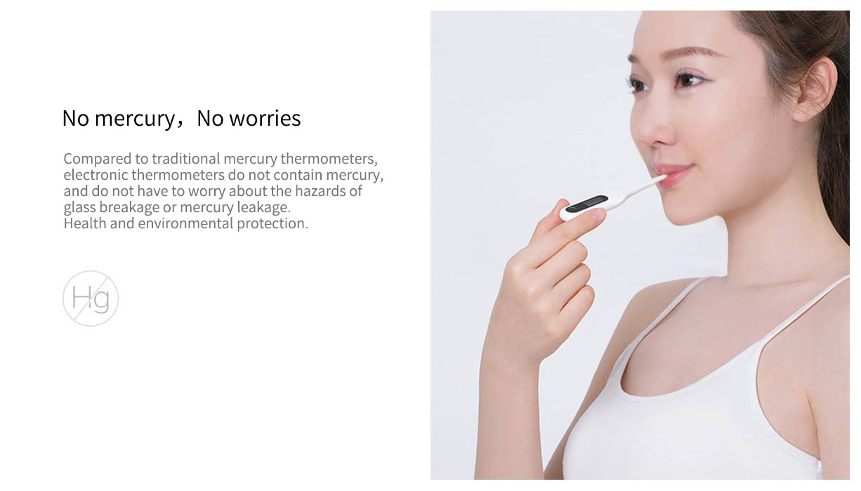 XIAOMI Mijia Digital Medical Thermometer CFDA Accurate Oral & Armpit Underarm Thermometer for Children and Adults Body Temperature Clinical Professional Detecting Fever