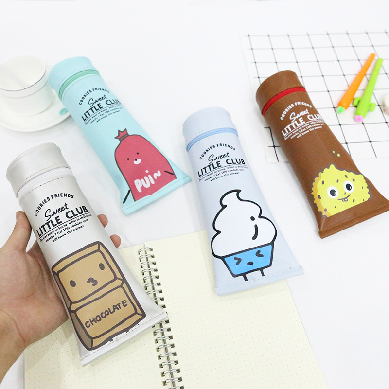 WPM PC-CB03 Creative Shape Toothpaste Pencil Case Cartoon Pencil Bag School Supplies Storage Bag