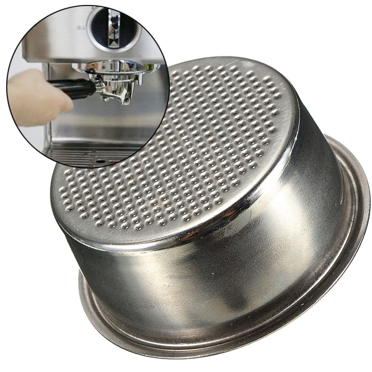 Dia 51mm Stainless Steel Non Pressurized Filter Basket Reusable Coffee Filter For Coffee Machine