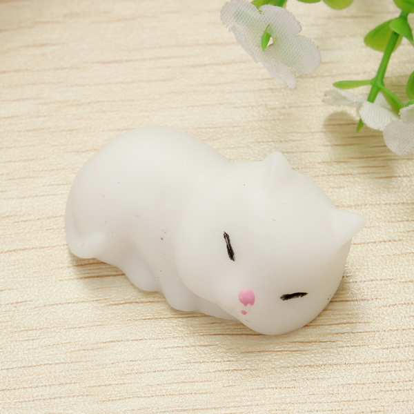 Squishy Squeeze Toy Cute Healing Small Kittens Stress Reliever Gift Decor