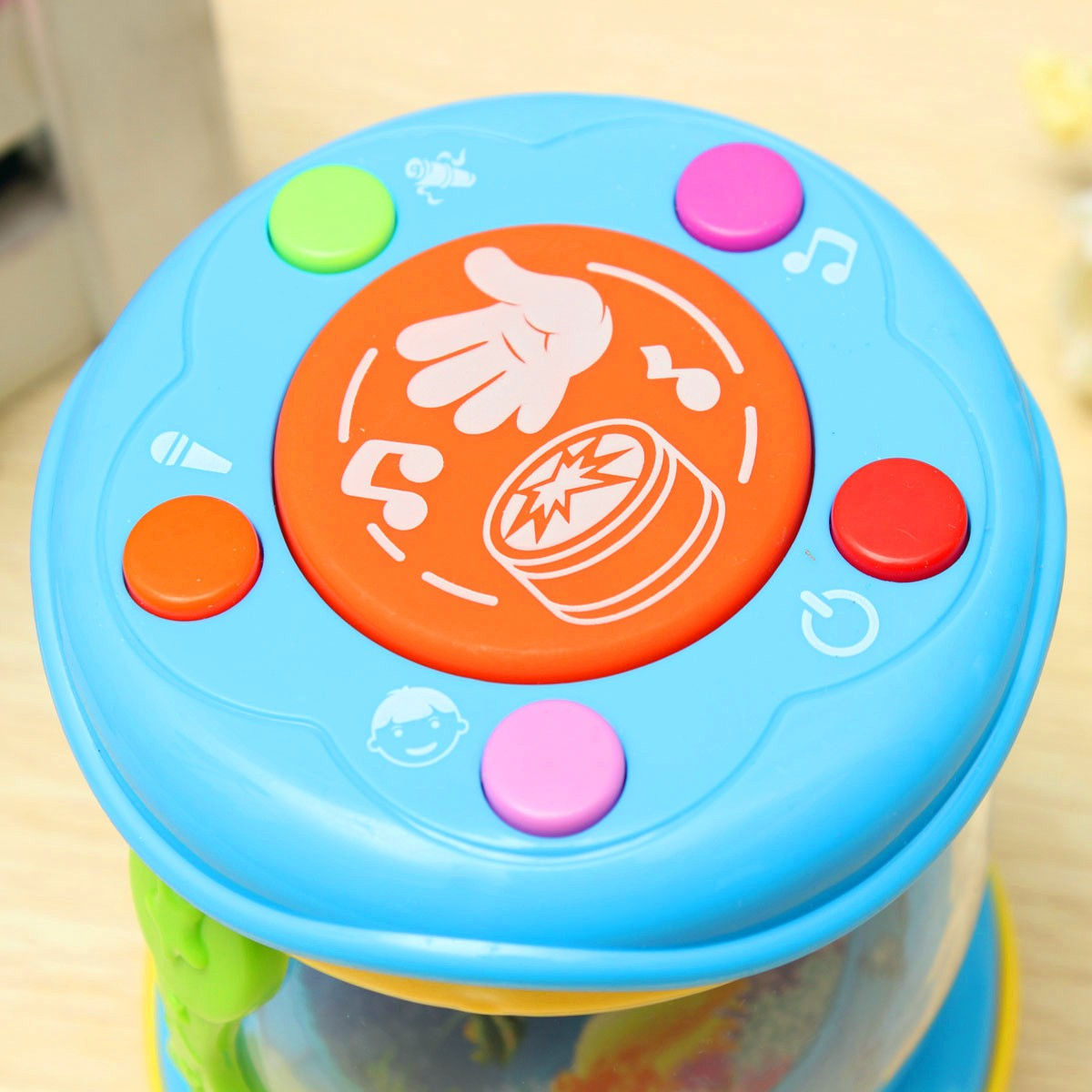 Children Kid Baby Electrical Drum Songs Early Educational Development Toy Colorful Lights Musical Instrumental