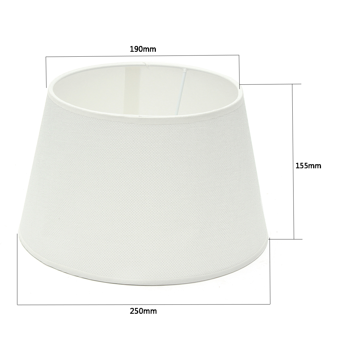 Cotton Textured Fabric PVC Linen Shade Desk Ceiling Lampshade 255*190*155mm